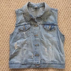 Levi's destroyed denim vest